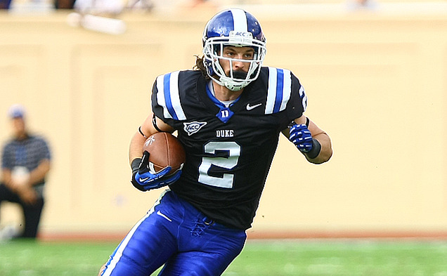 Conner Vernon broke the ACC record for career receptions and had seven catches for 93 yards and two touchdowns in Duke's win.