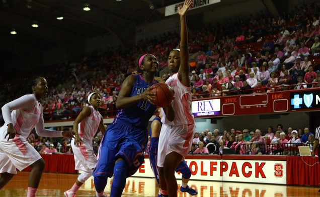A double-double from Elizabeth Williams could not save the Blue Devils from their third straight loss, a road defeat at Georgia Tech.