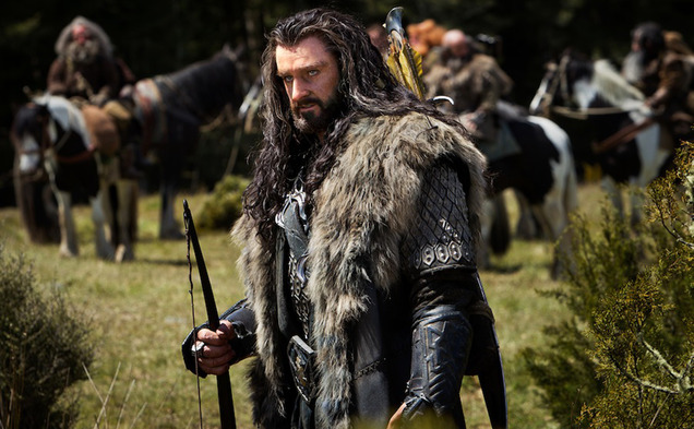 "RICHARD ARMITAGE as the Dwarf warrior Thorin Oakenshield in the fantasy adventure ""THE HOBBIT: AN UNEXPECTED JOURNEY,"" a production of New Line Cinema and Metro-Goldwyn-Mayer Pictures (MGM), released by Warner Bros. Pictures and MGM."