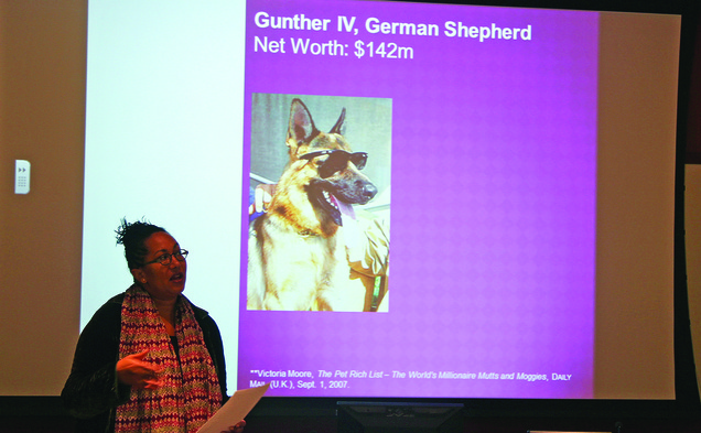 Adrienne Davis, vice provost of Washington University in Saint Louis gave a talk Tuesday about pet