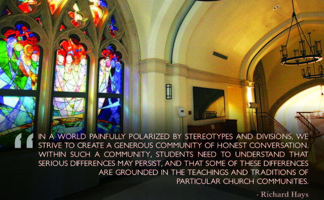 The above excerpt is from the open letter Dean Hays wrote to the Divinity School community.