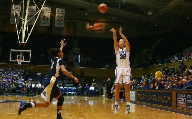 Senior Tricia Liston broke Duke's all-time record for 3-pointers made in the Blue Devils' 111-67 victory against Pittsburgh.