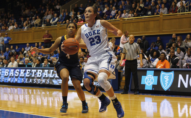 Redshirt freshman Rebecca Greenwell tallied a career-high 22 points and 12 rebounds in Duke's rout of Marquette Sunday and will look to turn in another solid outing Tuesday against Buffalo.