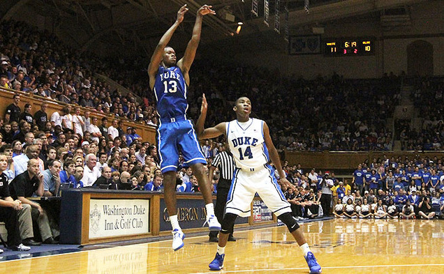 During his redshirt season, Mississippi State-transfer Rodney Hood's lone game action came in Duke's Countdown to Craziness.
