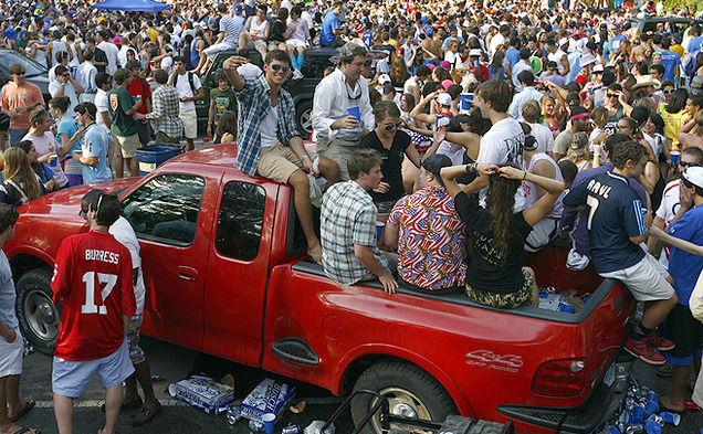 In the Fall of 2010, students celebrated their last Tailgate, canceled after a 14 year old was found unconscious in a Porta Potty.