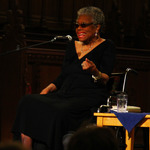 Maya Angelou speaks at Duke Chapel in 2013.