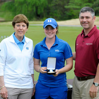 Freshman Leona Maguire followed in the footsteps of teammate Celine Boutier, becoming the second Blue Devil in as many years to win the individual title at the ACC championship in Greensboro, N.C. | Sara D. Davis, theACC.com