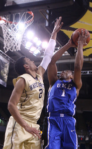 A dunk by Jabari Parker put Duke up 66-59 before a 17-0 run changed the course of the contest.
