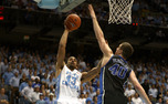 James Michael McAdoo dominated the inside with 14 point and 10 boards as North Carolina topped Duke.